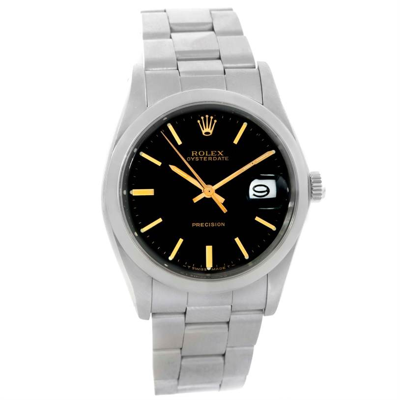 10168 Rolex OysterDate Precision Vintage Stainless Steel Watch 6694 SwissWatchExpo