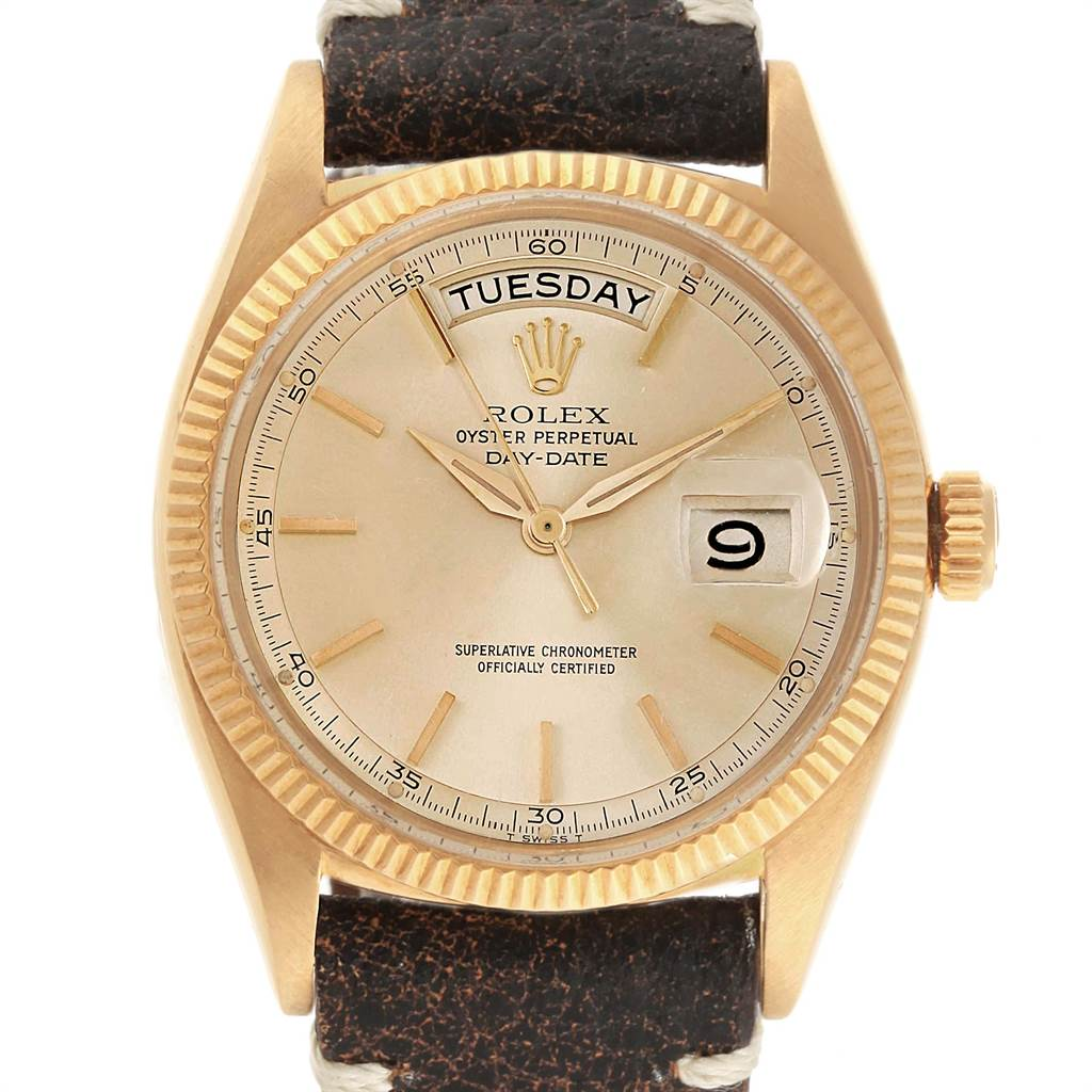 10313 Rolex President Day Date Yellow Gold Vintage Mens Watch 6611 Box SwissWatchExpo