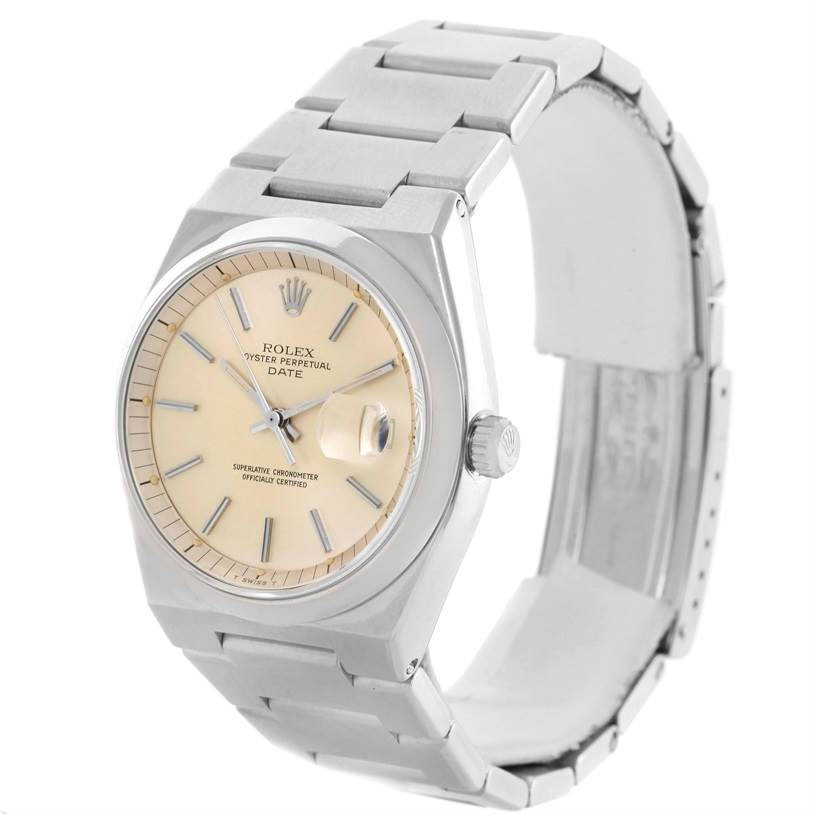 Rolex Oyster Perpetual Date Vintage Mens Stainless Steel Watch 1530
