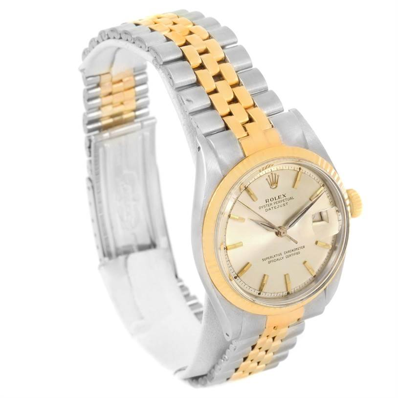 rolex datejust vintage mens stainless steel 14k yellow