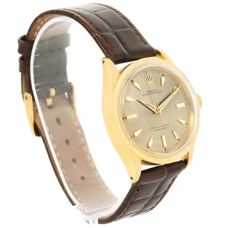 Rolex Oyster Perpetual 18K Yellow Gold Vintage Chronometer Watch 6569 SwissWatchExpo
