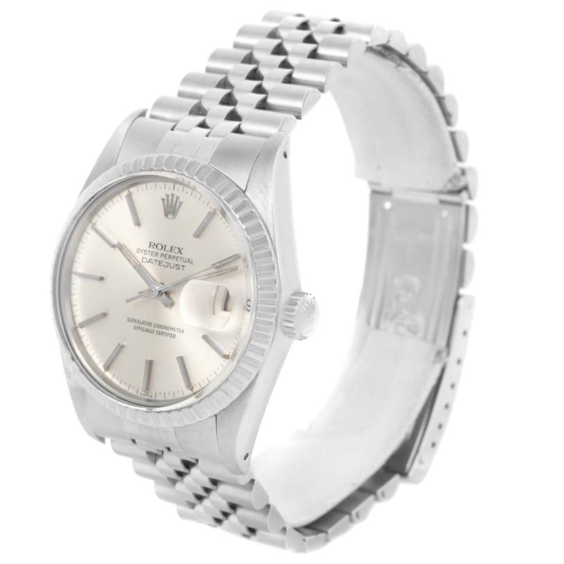 11866 Rolex Datejust Steel Silver Dial Vintage Mens Watch 16030 Year 1980 SwissWatchExpo