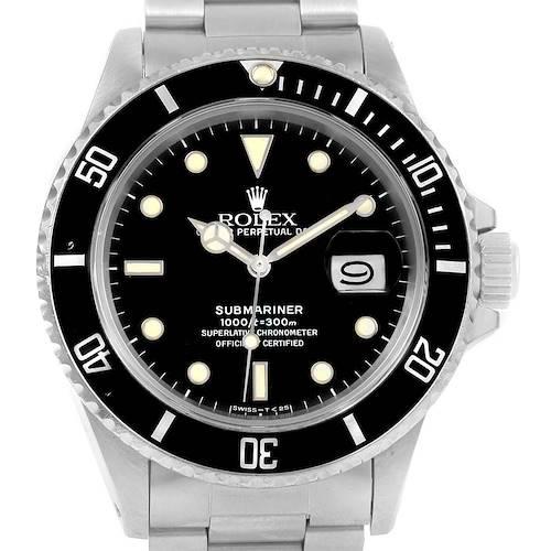 Photo of Rolex Submariner Date Stainless Steel Mens Vintage Watch 16800