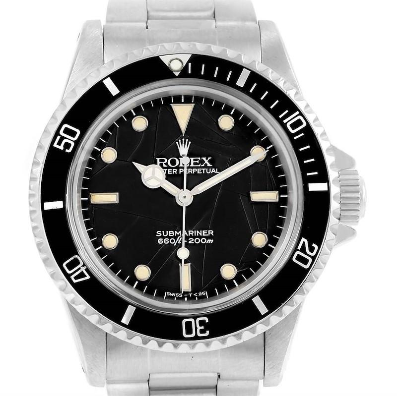 Rolex Submariner Vintage Spider Net Dial Steel Mens Watch 5513 SwissWatchExpo