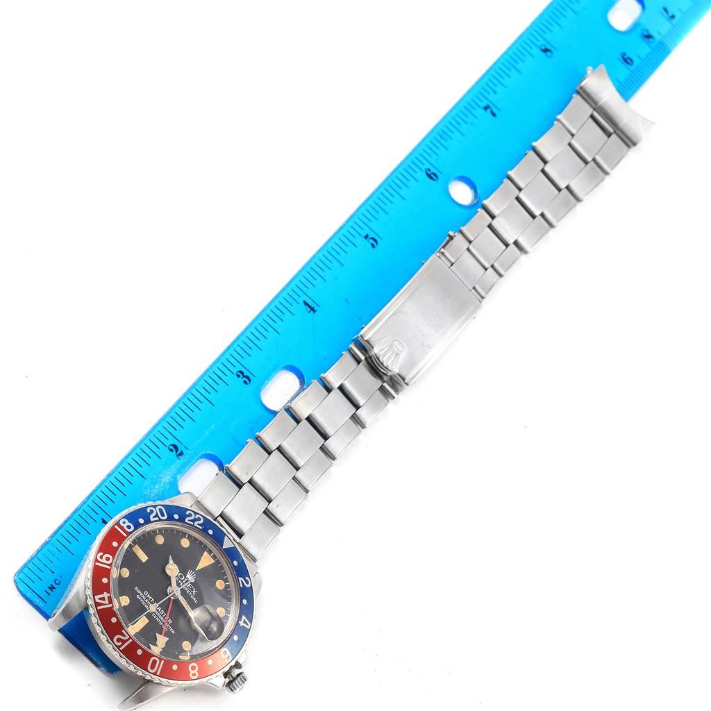 16874 Rolex GMT Master Vintage Red and Blue Pepsi Bezel Mens Watch 1675 SwissWatchExpo