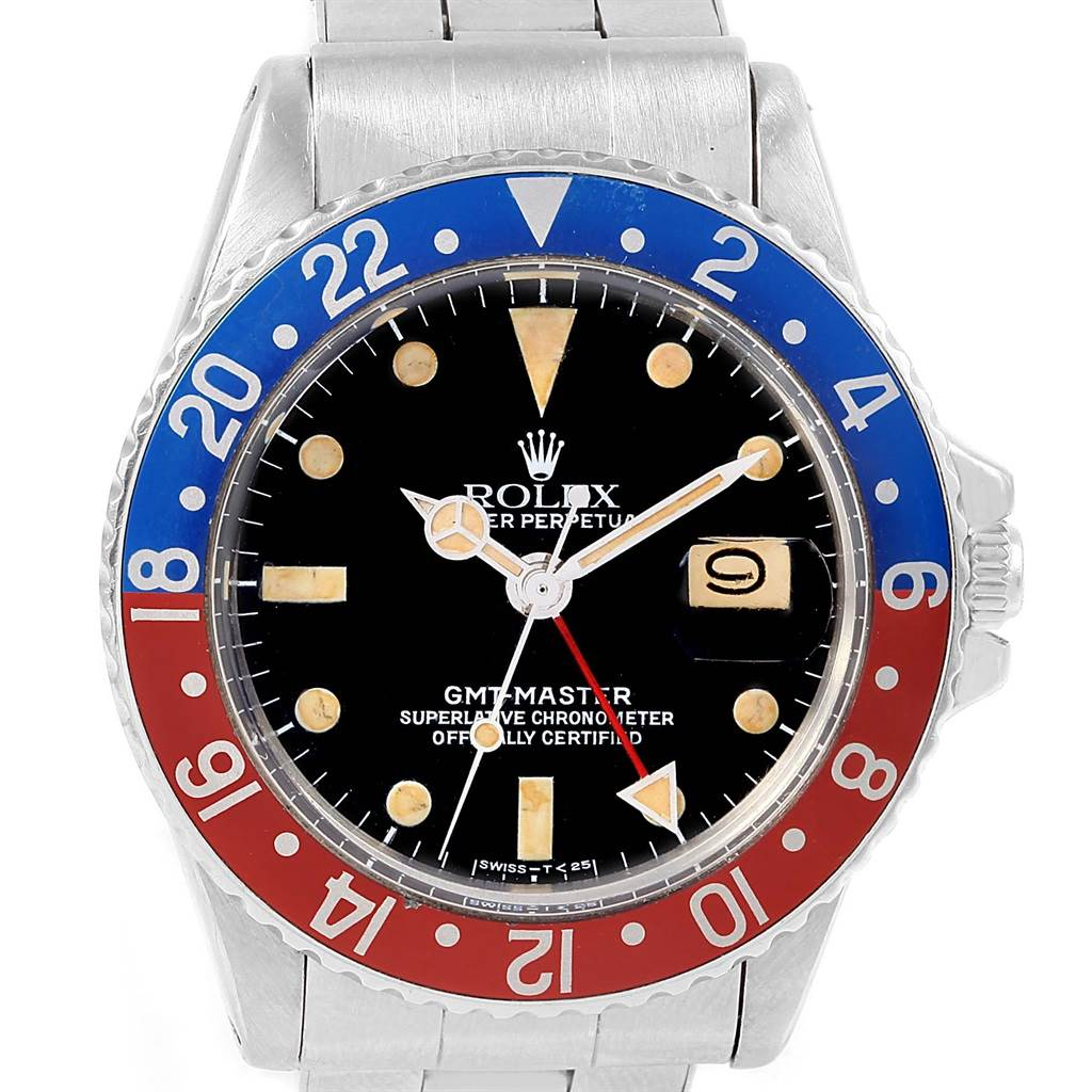 Rolex GMT Master Vintage Red and Blue Pepsi Bezel Mens Watch 1675 |  SwissWatchExpo
