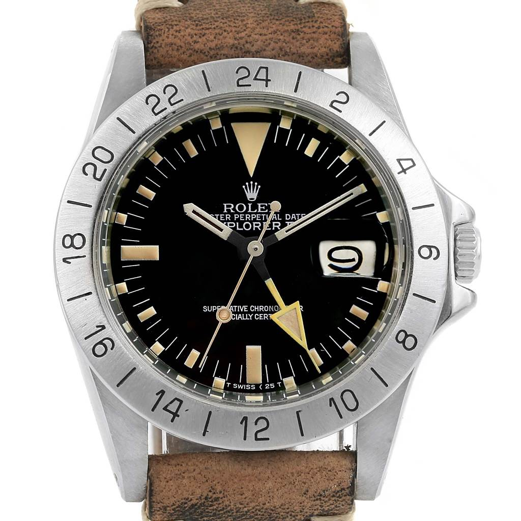 ... 17153 Rolex Explorer II Steve Mcqueen Vintage Steel Watch 1655  Unpolished SwissWatchExpo ...
