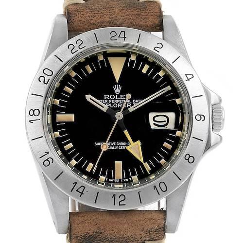Photo of Rolex Explorer II Steve Mcqueen Vintage Steel Watch 1655 Unpolished