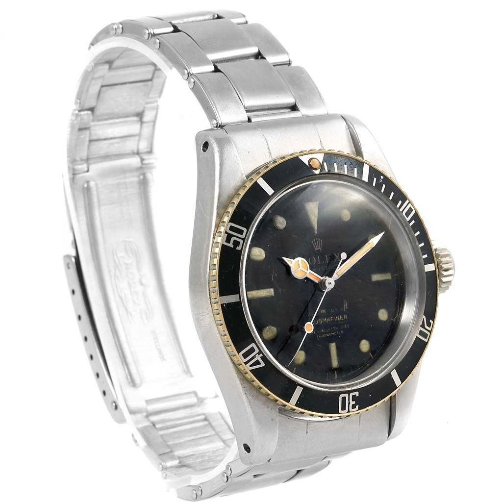 Rolex Submariner Vintage James Bond Big Crown Steel Mens Watch 6538