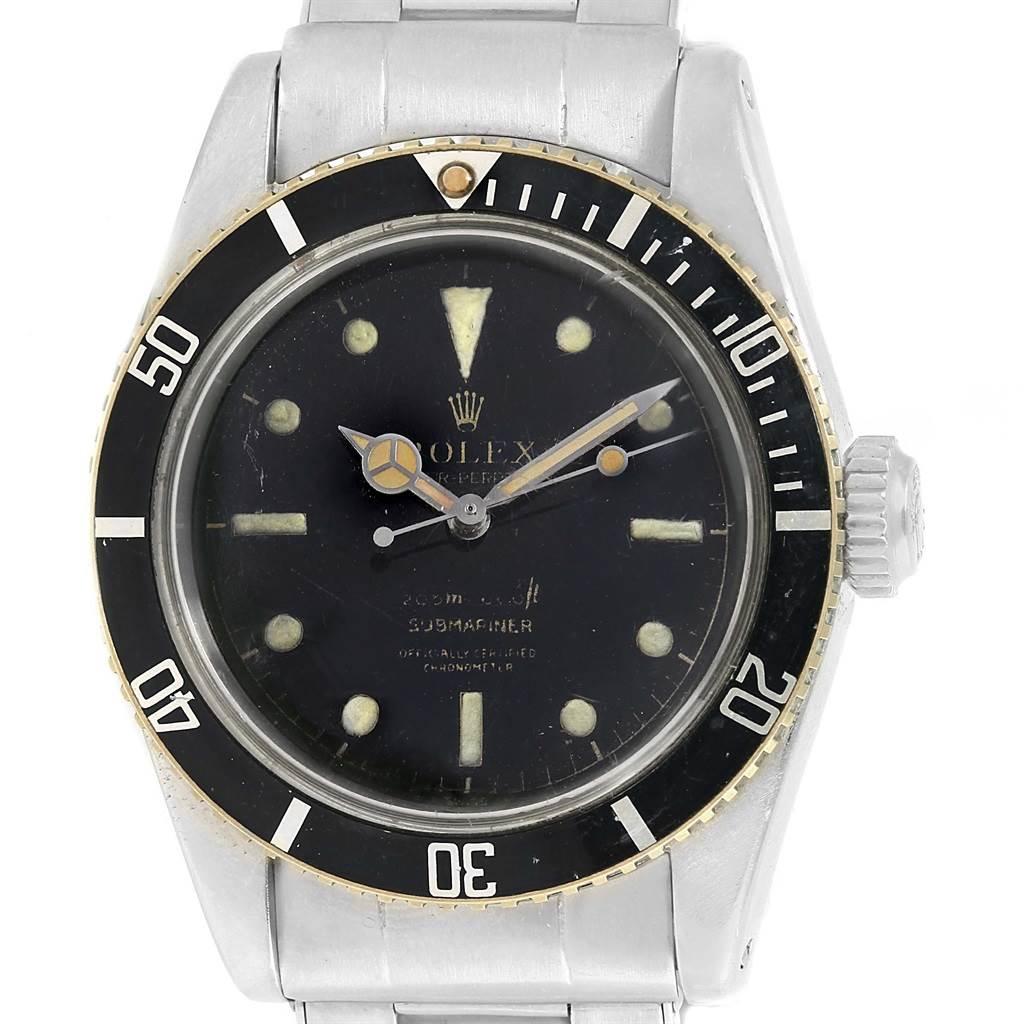 Rolex Submariner Vintage James Bond Big Crown Steel Mens Watch 6538 SwissWatchExpo