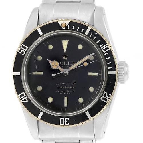 Photo of Rolex Submariner Vintage James Bond Big Crown Steel Mens Watch 6538