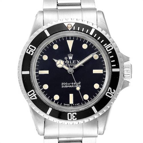 Photo of Rolex Submariner Automatic Steel Vintage Mens Watch 5513 Box Papers