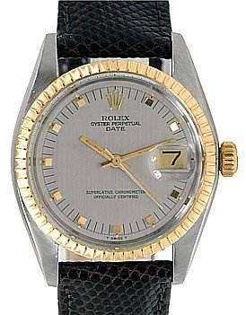 Photo of Rolex Date Vintage Steel 14k Yellow Gold Watch 1505