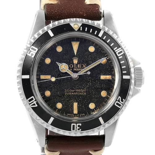 Photo of Rolex Submariner Vintage Guilt Gloss Dial Mens Watch 5513