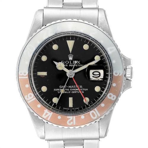 Photo of Rolex GMT Master Gilt Dial Pepsi Bezel Vintage Mens Watch 1675
