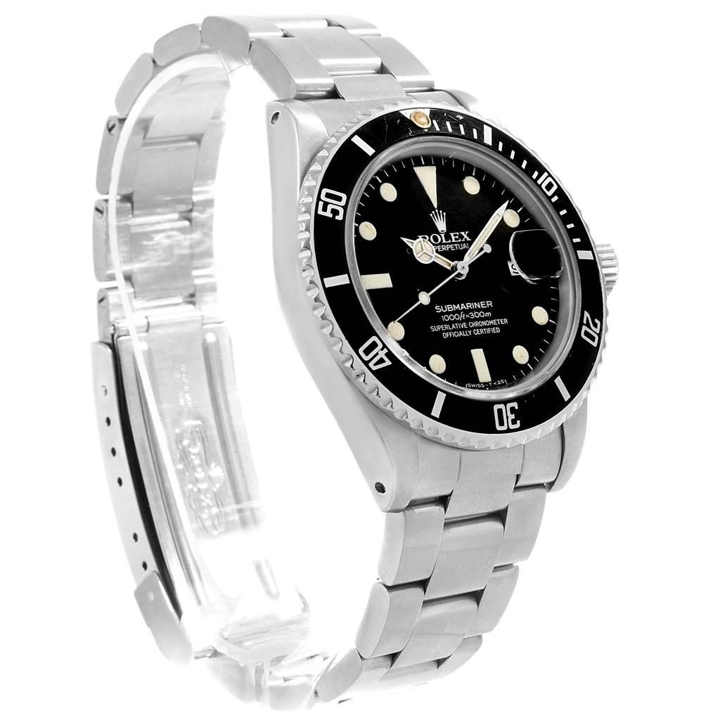 18098 Rolex Submariner Date Stainless Steel Mens Vintage Watch 16800 SwissWatchExpo