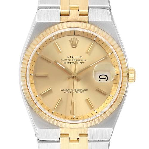 Photo of Rolex Datejust 36 Steel 18K Yellow Gold Mens Watch 1630