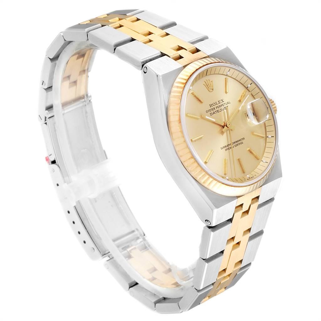 Rolex Datejust 36 Steel 18K Yellow Gold Mens Watch 1630 SwissWatchExpo