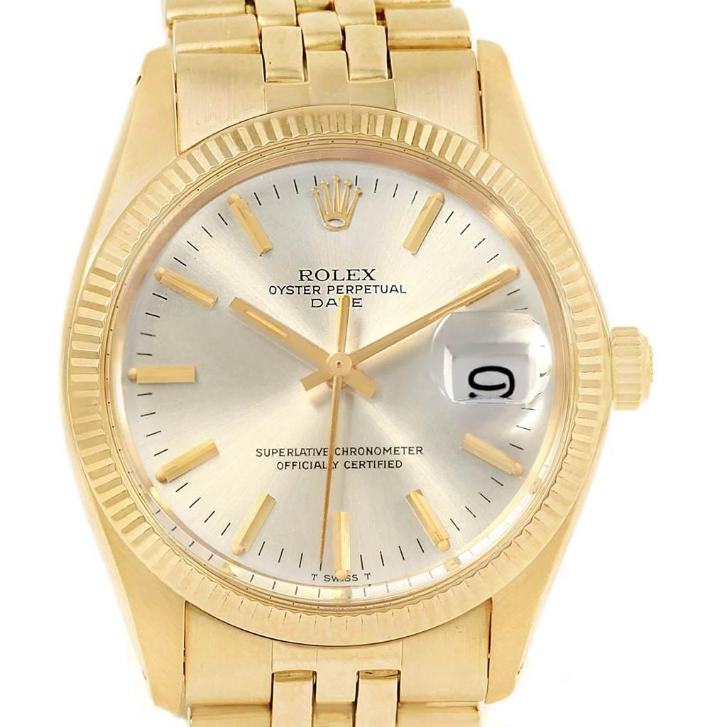 18784 Rolex Date 14k Yellow Gold Jubilee Bracelet Vintage Mens Watch 1503 Swisswatchexpo