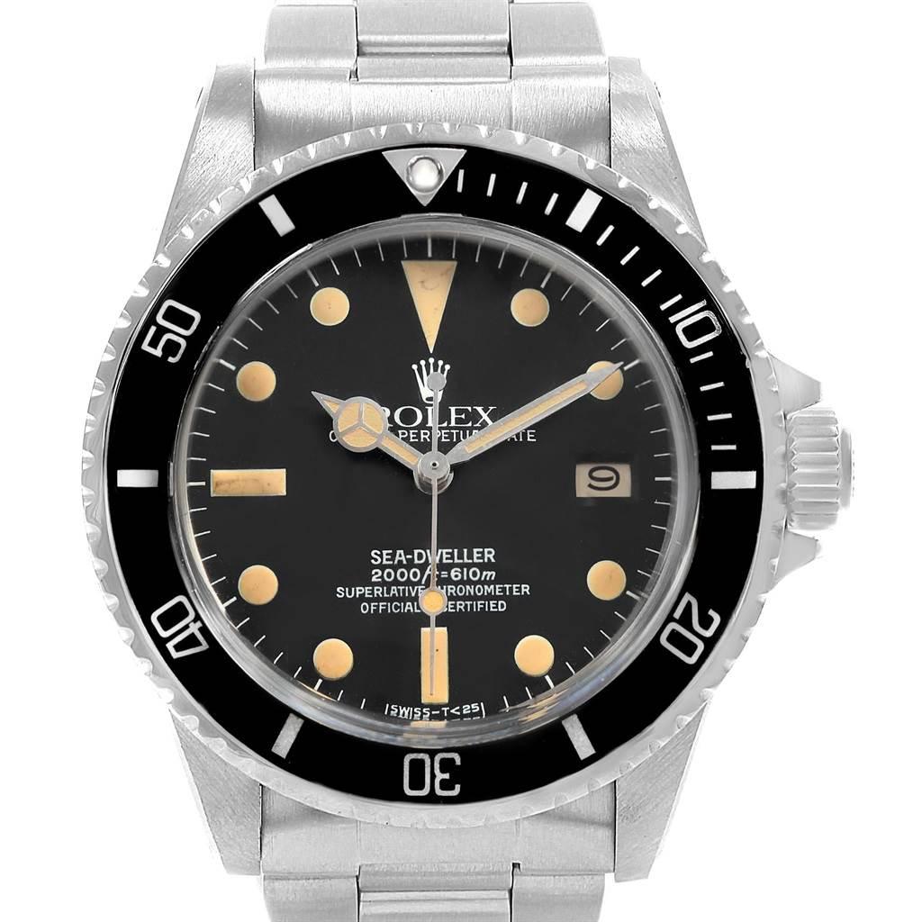 Rolex Seadweller Vintage Steel Mens Watch 1665 Box Papers