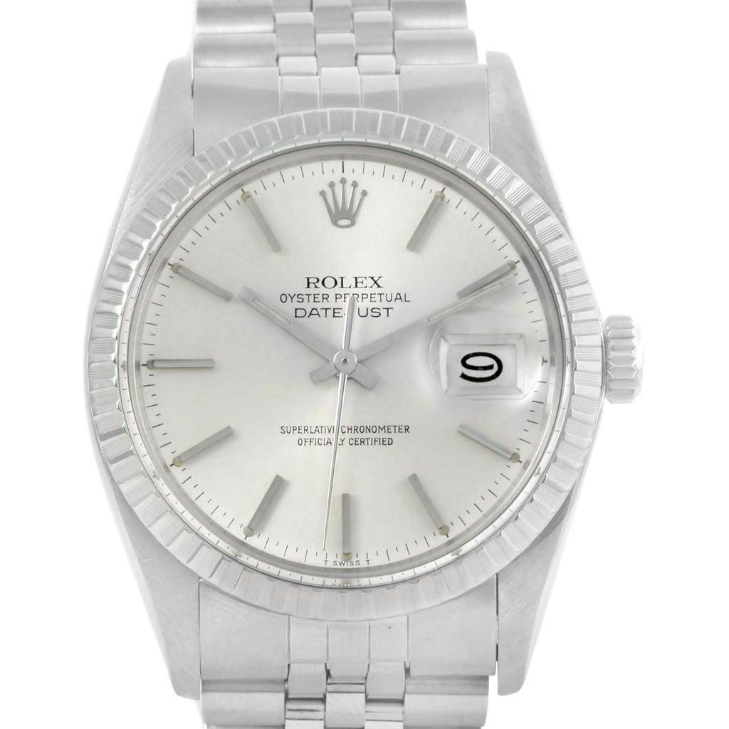 b0820c2e1bb8 19161 Rolex Datejust Steel Silver Dial Automatic Vintage Mens Watch 16030  SwissWatchExpo ...