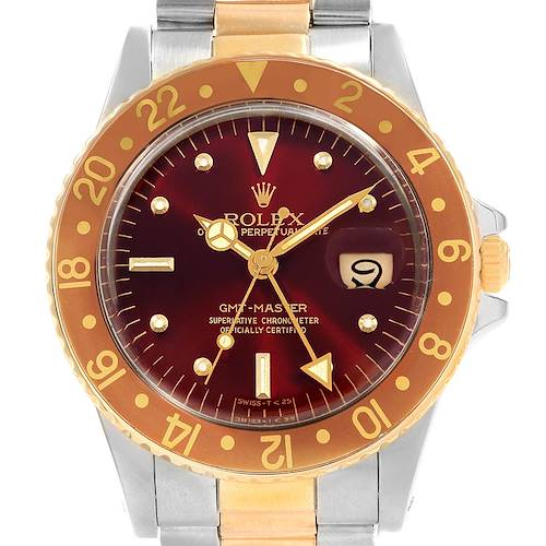 Photo of Rolex GMT Master Rootbeer Gold Steel Nipple Dial Vintage Watch 16753