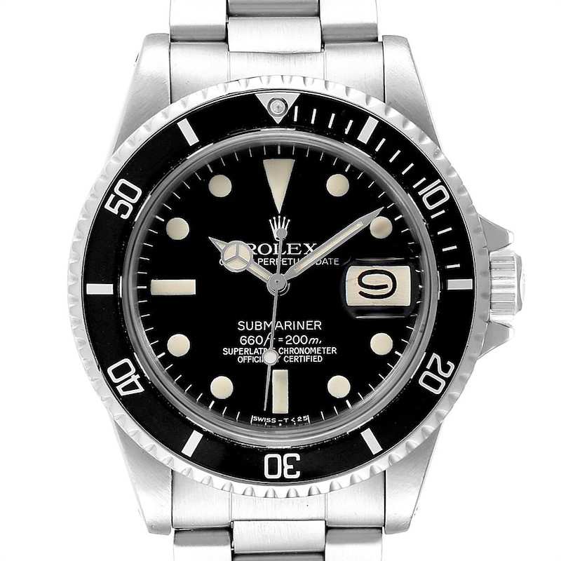 Rolex Submariner Vintage Stainless Steel Mens Watch 1680 SwissWatchExpo