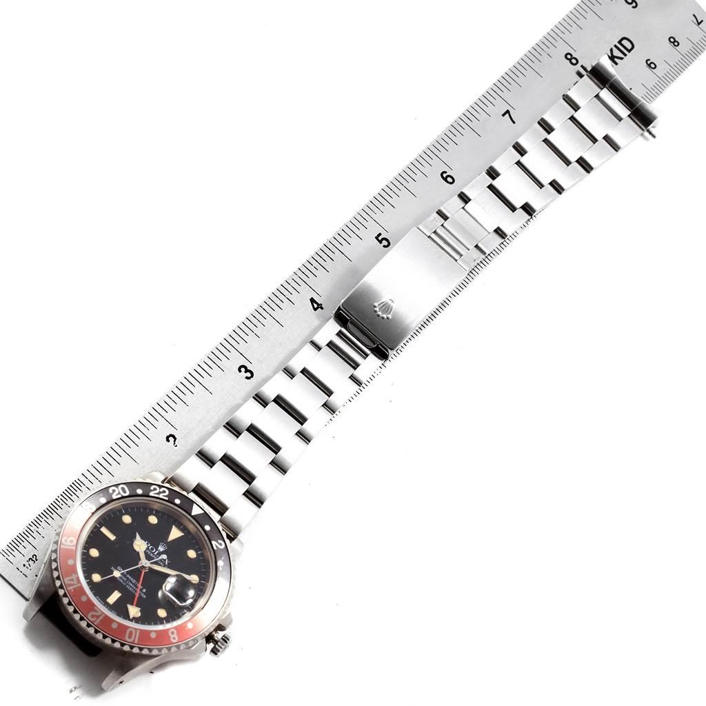 Rolex GMT Master Fat Lady Vintage Coke Black Red Bezel Watch 16760 SwissWatchExpo