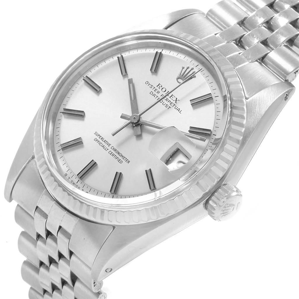 20150 Rolex Datejust Steel White Gold Vintage Mens Watch 1601  SwissWatchExpo