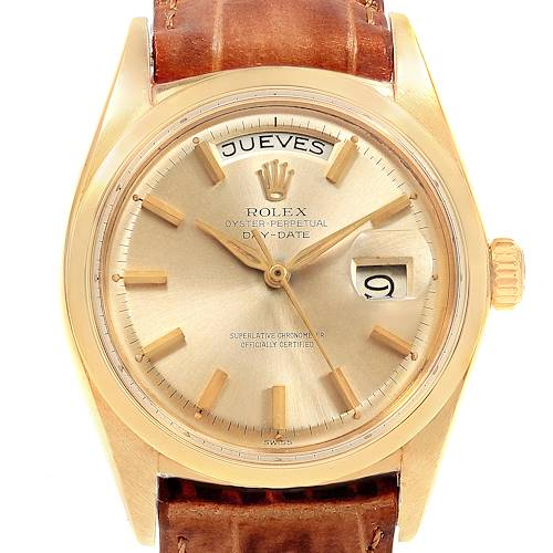 Photo of Rolex President Day-Date 18K Yellow Gold Vintage Mens Watch 1802
