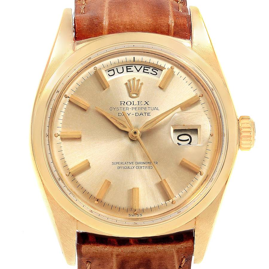 Rolex President Day-Date 18K Yellow Gold Vintage Mens Watch 1802 SwissWatchExpo