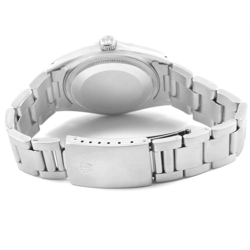 Rolex Datejust Grey Wide Boy Sigma Dial Steel Vintage Mens Watch 1603 SwissWatchExpo