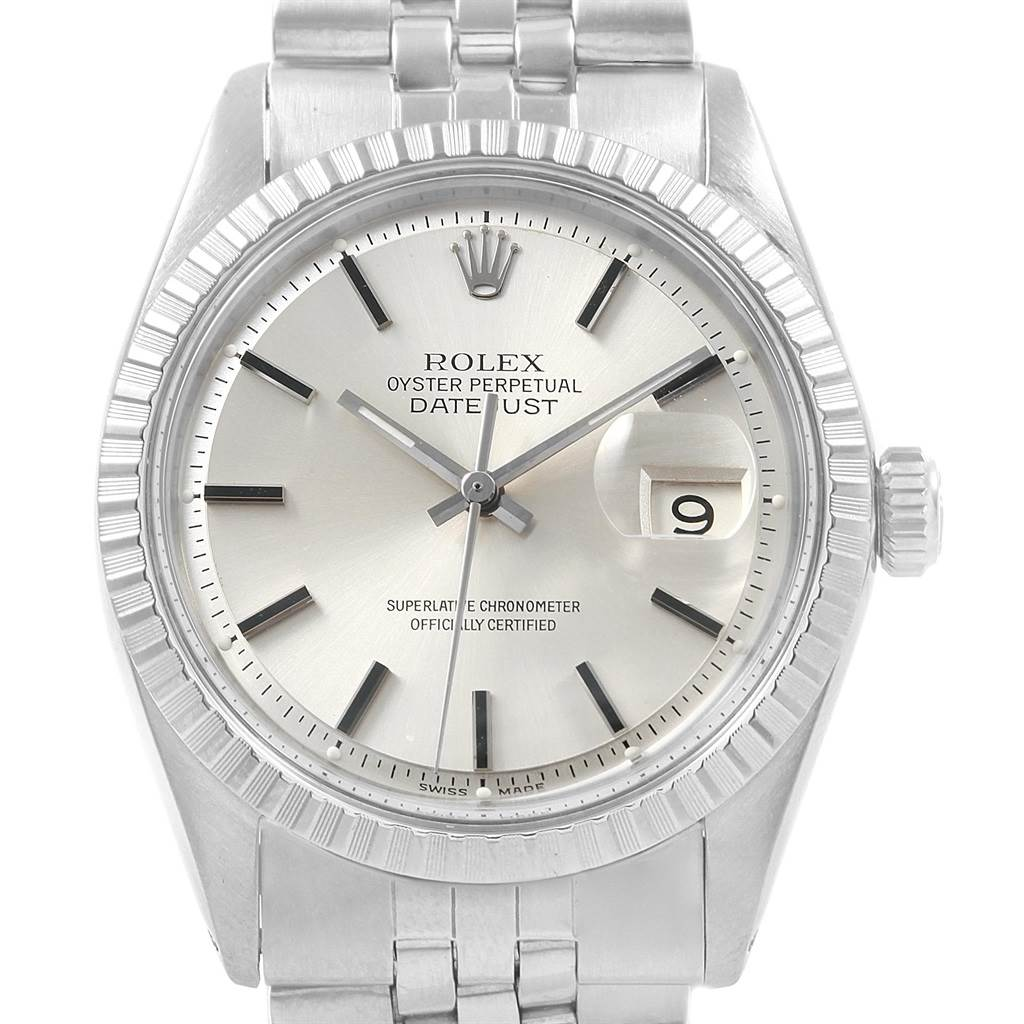59dfbcf4325e ... 20468 Rolex Datejust Silver Dial Jubilee Bracelet Vintage Mens Watch  1603 SwissWatchExpo ...