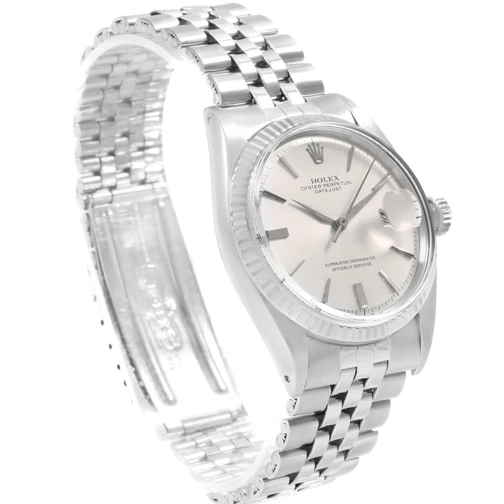 Rolex Datejust Steel White Gold Vintage Mens Watch 1601 SwissWatchExpo