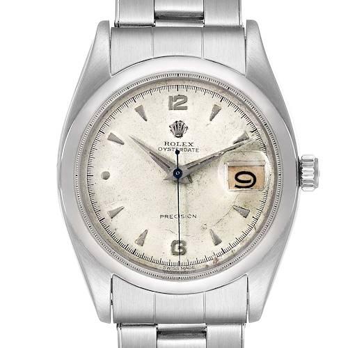 Photo of Rolex OysterDate Precision Smooth Bezel Steel Vintage Mens Watch 6494