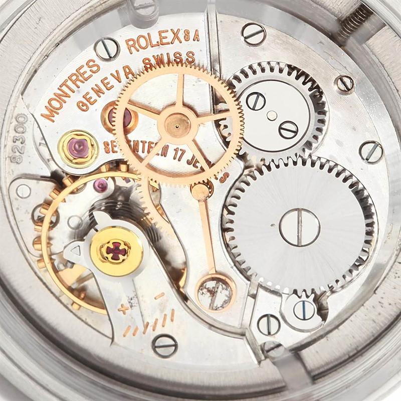 Rolex OysterDate Precision Smooth Bezel Steel Vintage Mens Watch 6494 SwissWatchExpo