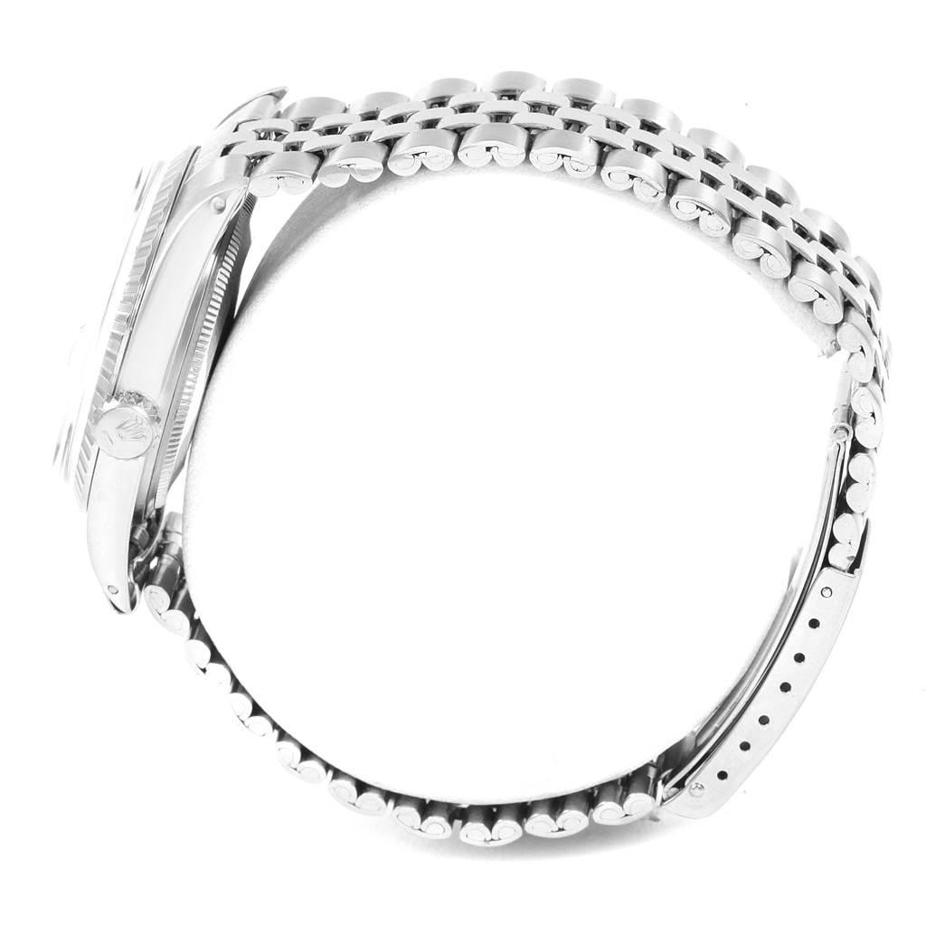 20466 Rolex Datejust Silver Dial Jubilee Bracelet Vintage Mens Watch 1603 SwissWatchExpo