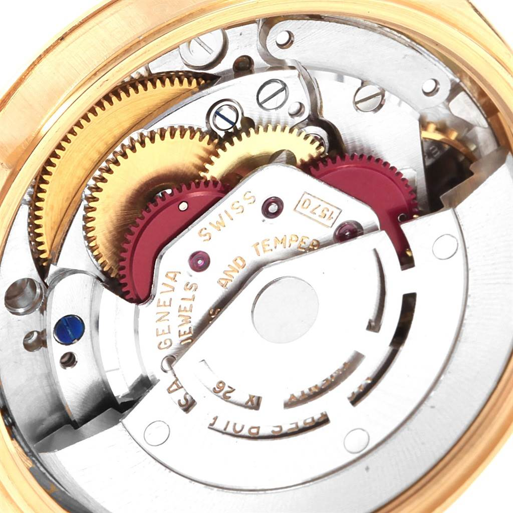 20852 Rolex Date 18k Yellow Gold Oyster Bracelet Vintage Mens Watch 1500 SwissWatchExpo