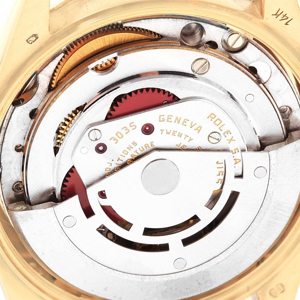 20715 Rolex Date Mens 14k Yellow Gold Vintage Mens Watch 15037 SwissWatchExpo