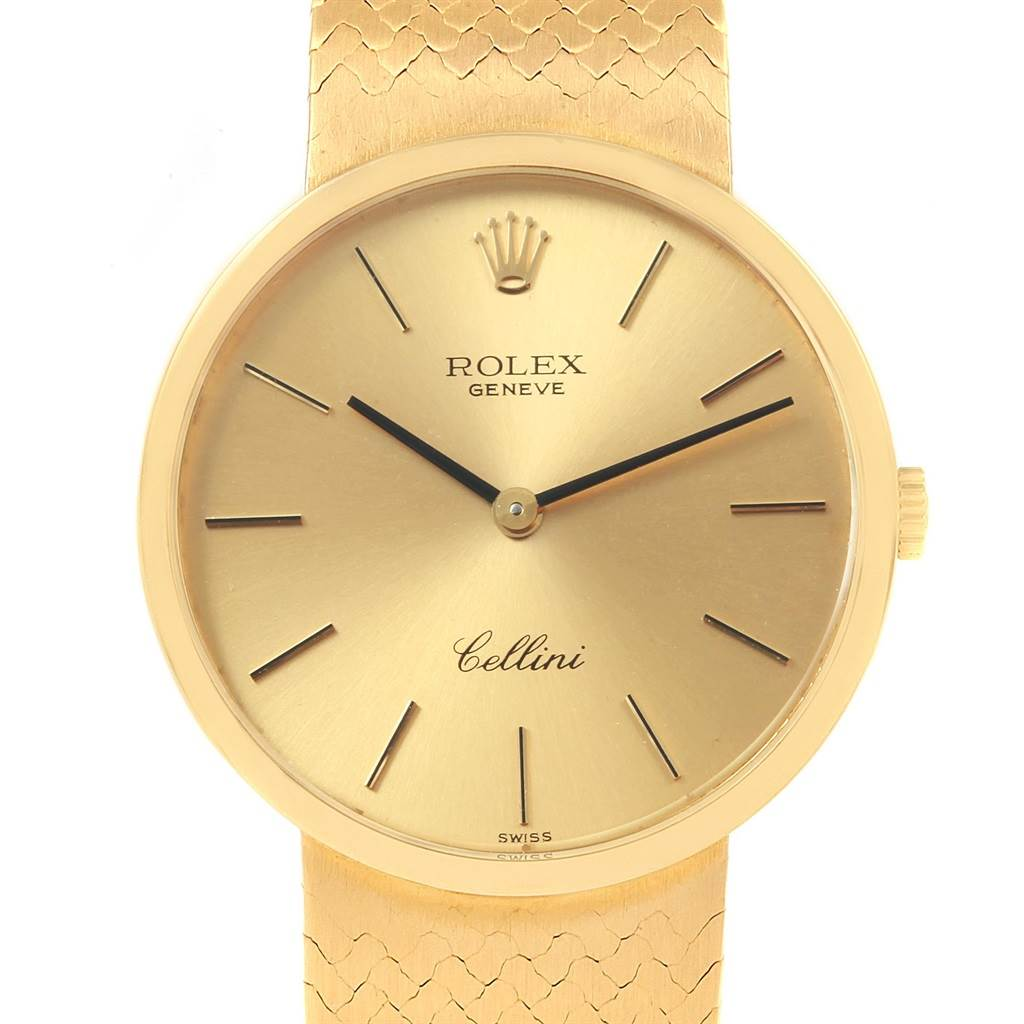 Rolex Cellini Classic 18k Yellow Gold Vintage Mens Watch 4309
