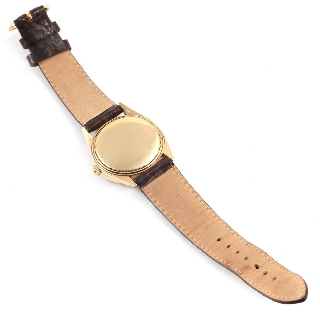 20862 Rolex Date Vintage 14K Yellow Gold Brick Dial Mens Watch 1501 SwissWatchExpo