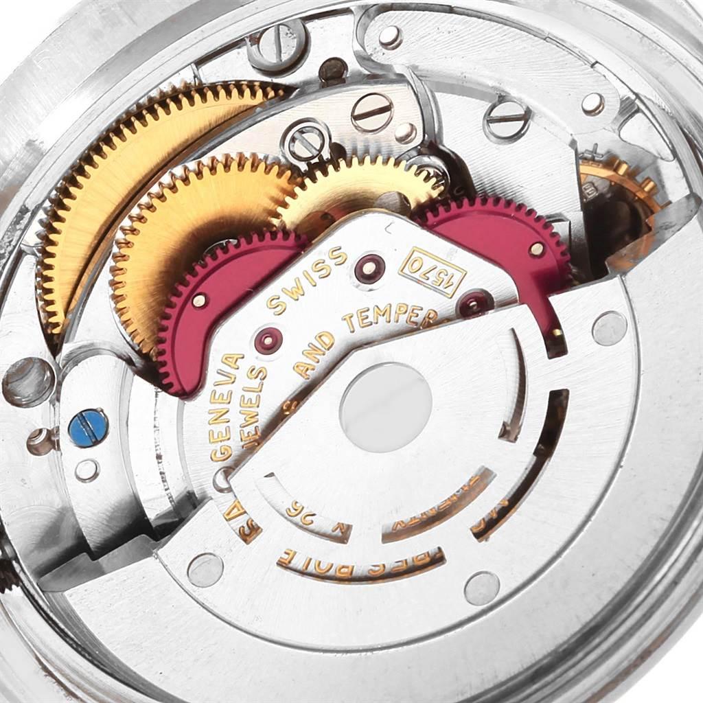 20717X Rolex Datejust Steel White Gold Black Dial Vintage Mens Watch 1601 SwissWatchExpo