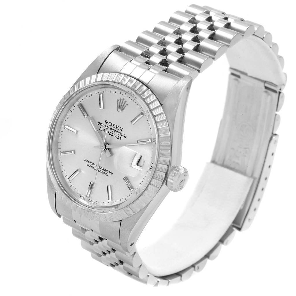 20997 Rolex Datejust 36mm Silver Dial Steel Vintage Mens Watch 16030 SwissWatchExpo