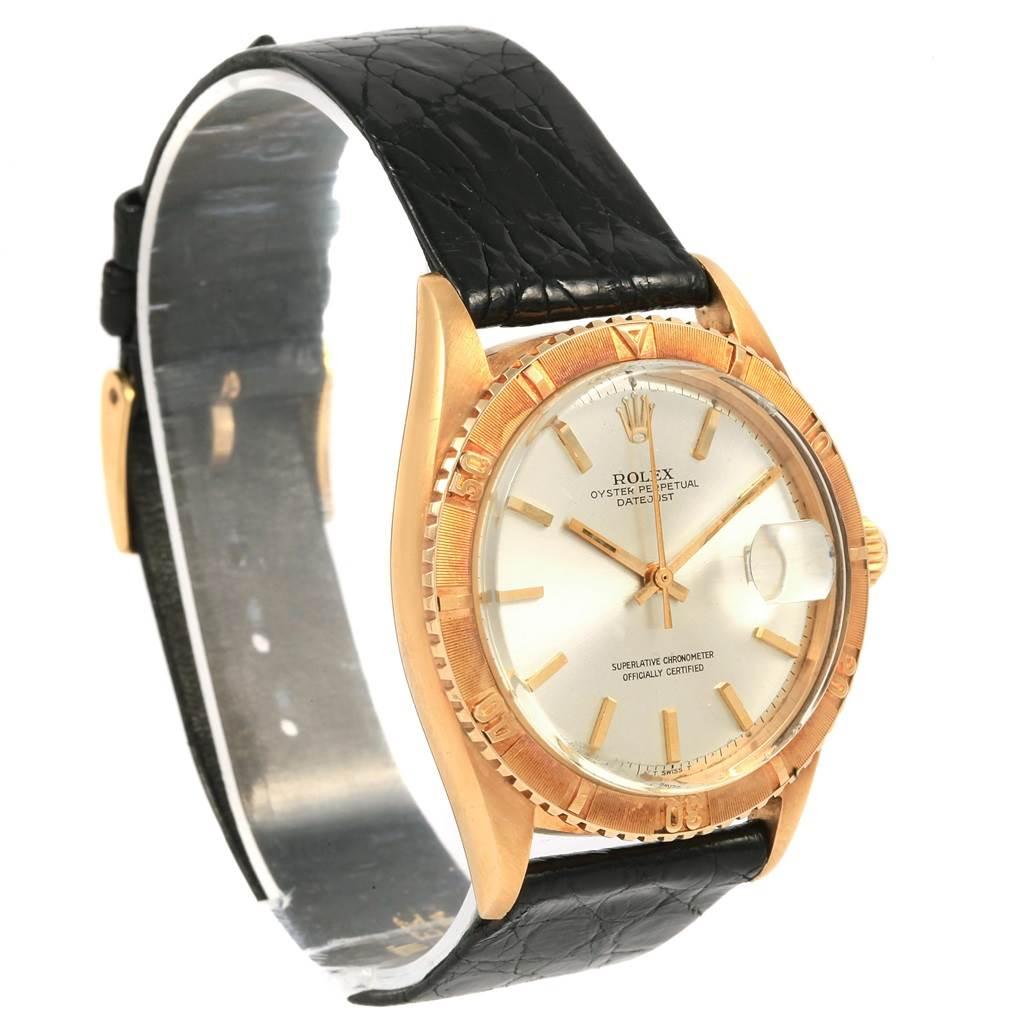 3982X Rolex Turnograph Datejust 18k Yellow Gold Vintage Mens Watch 1625 SwissWatchExpo