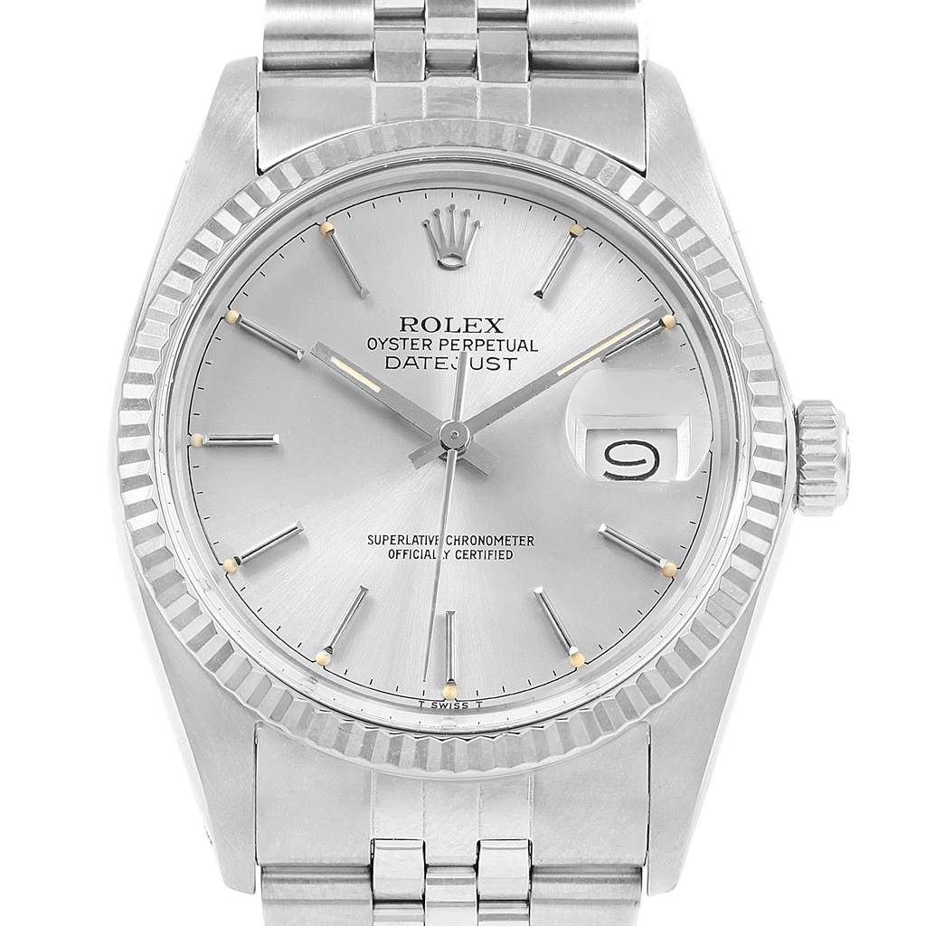 20772 Rolex Datejust Vintage Steel White Gold Jubilee Bracelet Mens Watch 16014 SwissWatchExpo
