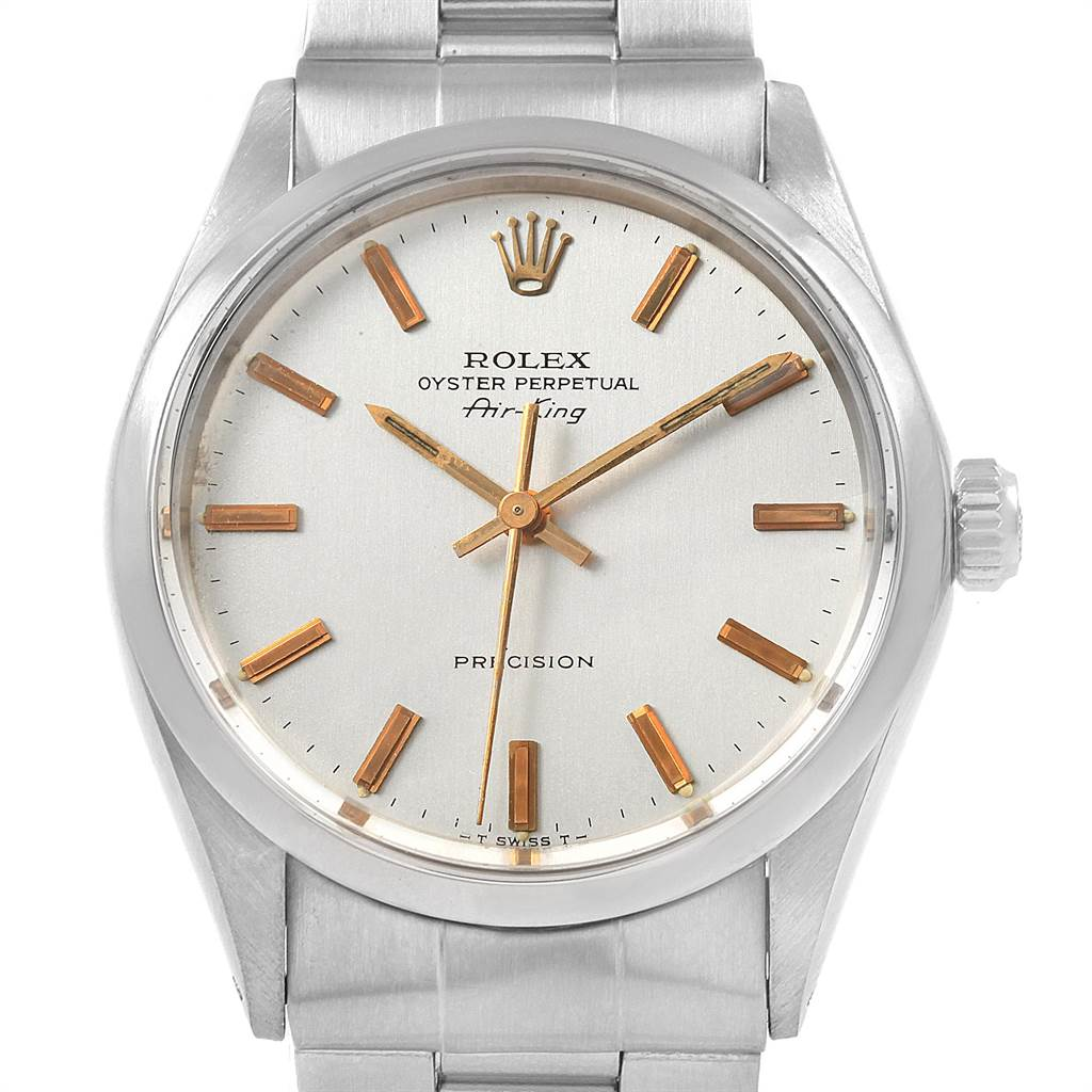 6262dccc796e ... 18989 Rolex Air King Vintage Stainless Steel Silver Dial Mens Watch 5500  SwissWatchExpo ...