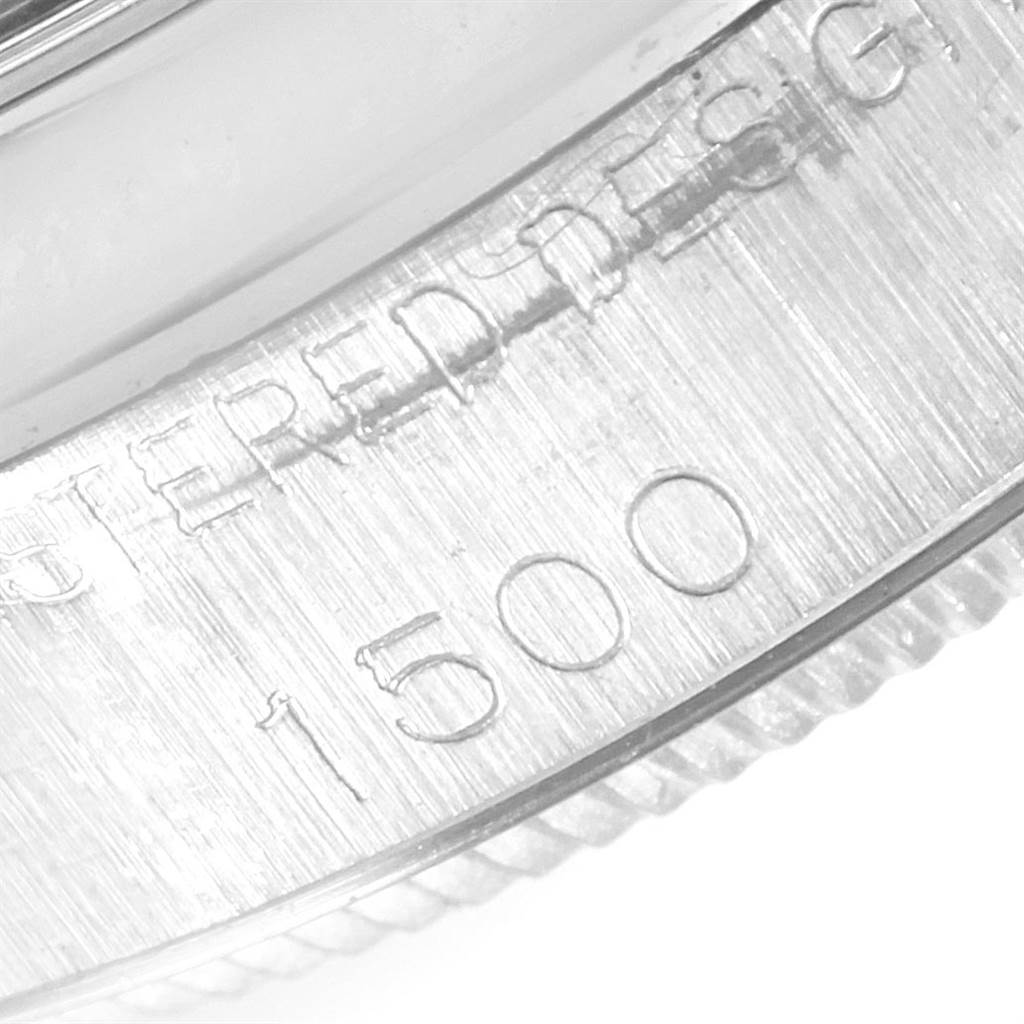 21234 Rolex Date Domed Bezel Silver Dial Steel Vintage Mens Watch 1500 SwissWatchExpo