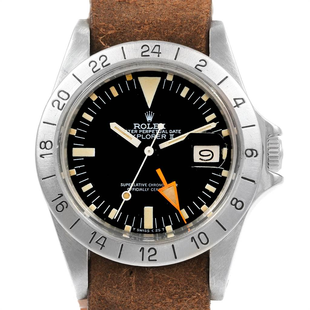 21683 Rolex Explorer II Steve Mcqueen Vintage Steel Mens Watch 1655 SwissWatchExpo