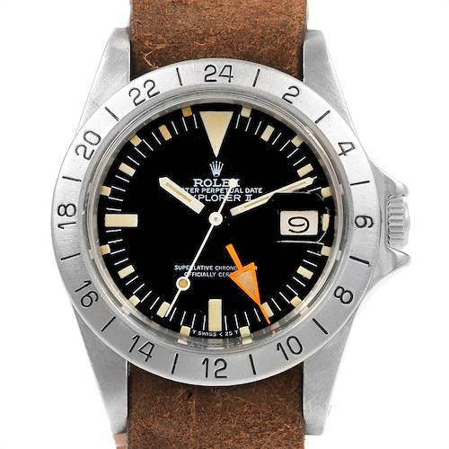 Photo of Rolex Explorer II Steve Mcqueen Vintage Steel Mens Watch 1655