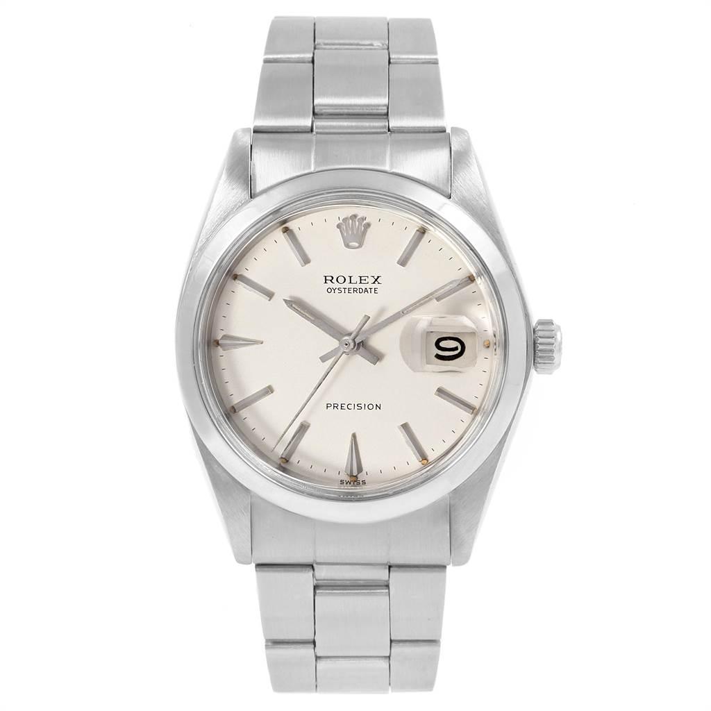 21501 Rolex OysterDate Precision Oyster Bracelet Vintage Mens Watch 6694 SwissWatchExpo